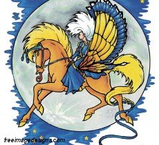 Girl On Flying Horse Free Image Tattoo Design Download Free Image