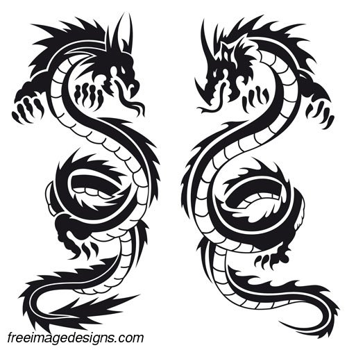 Chinese Dragons Designs