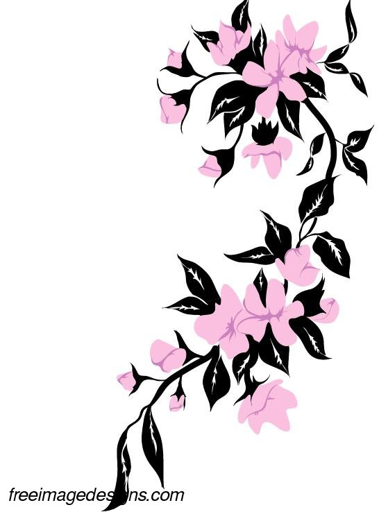 Flower designs archives freeimagedesigns pink flowers image design from the collection of flower designs altavistaventures Images