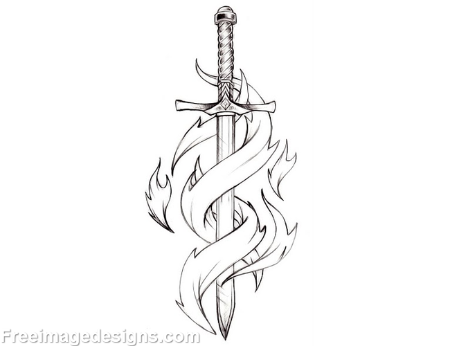 Gothic Designs gothic sword with flames image download free image tattoo designs